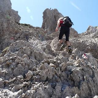 Der Freiunger Höhenweg verlangt Trittsicherheit  und Schwindelfreiheit.