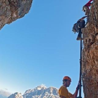 Steile Welt im Mittelteil des Leiternsteiges