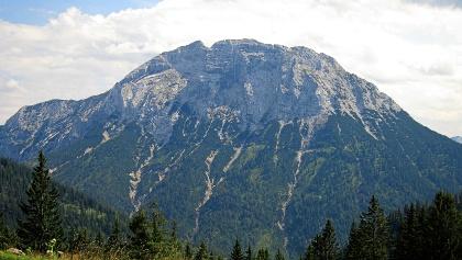 Nordseite des Guffert vom Blaubergkamm aus gesehen.