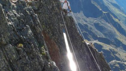 Seilbrücke am Glödis-Klettersteig