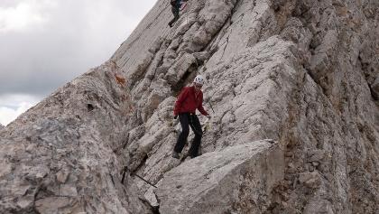 Im Klettersteig zum Neuner