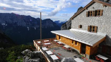 Sonnenterasse der Blaueishütte