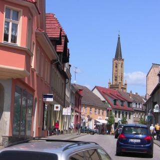 Fürstenberg/Havel von der B96 aus gesehen