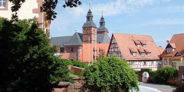 Blick auf die Basilika in Walldürn