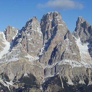 Blick auf den Monte Cristallo