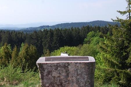 Alpen-Panoramatafel auf dem Bühl bei Horbach