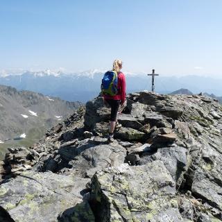 Der Gipfel der Jakobspitze ist erreicht.
