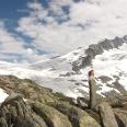 Der Großvenediger (3660 m) mit seinem markanten NW-Grat und dem Obersulzbachkees. Links das Zwischensulzbachtörl.