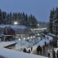 Bobbahn im Winter
