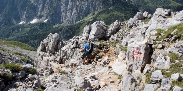 Abstieg über Jägerkreuz