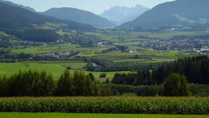 Blick von Bruneck in Pustertal