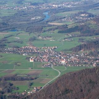 Nußdorf vom Kranzhorn aus gesehen