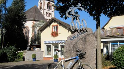 Ultra-Bike-Denkmal in Kirchzarten.