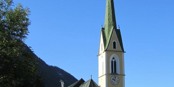 Die St. Nikolauskirche in Ischgl.