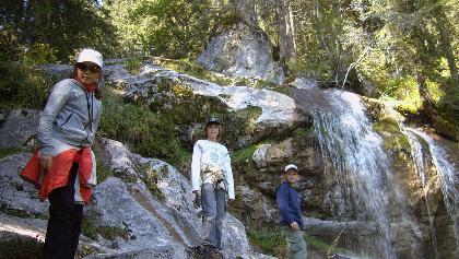 Wasserfallweg auf die Loferer Alm-hier gibt es viel zu entdecken