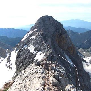 Klettersteig am Triglav-Gipfelgrat