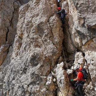 Klettersteigrunde übern Masaré und Rotwand-Steig.