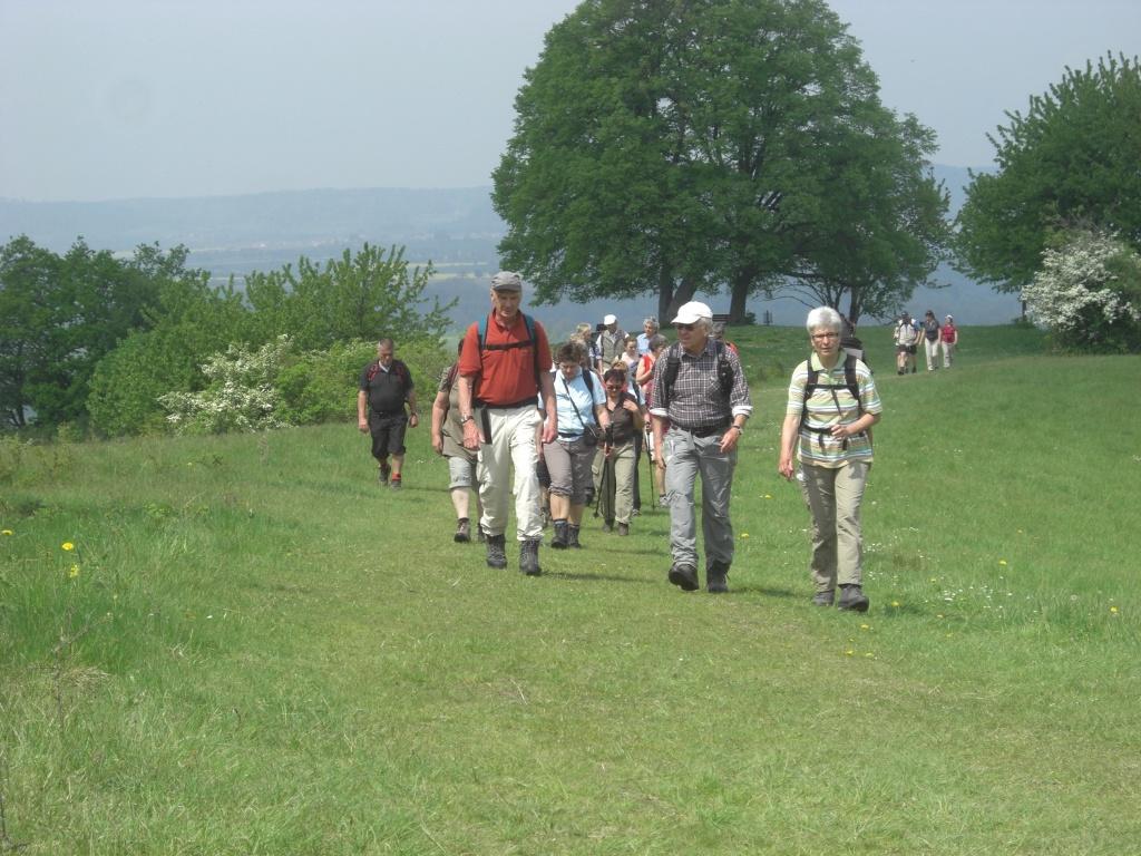 Wanderer auf dem Einkorn   - @ Autor: Beate Philipp  - © Quelle: Hohenlohe + Schwäbisch Hall Tourismus e.V.