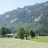 Blick auf das Forsthaus Dickelschwaig.