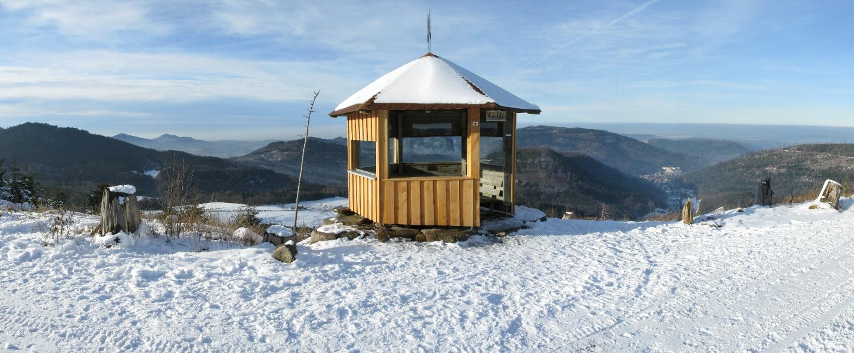 """""""Ski-Fernwanderweg, Teilstück Dobel - Schweizerkopf-Hütte"""""""