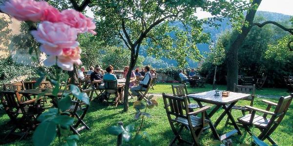 Heurigengarten in Dürnstein-Loiben, Weingut Brustbauer