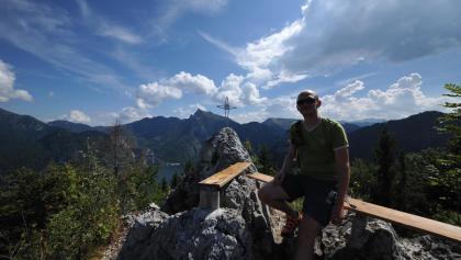 Auf dem Gipfel der Geißwand
