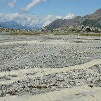 Dynamische Flusslandschaft und Natur pur auf dem Gletschervorfeld.