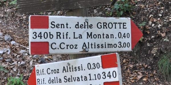 Sentiero delle Grotte Pradel – Rifugio Montanara