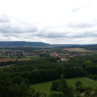 Blick vom Senftenberg auf Gunzendorf