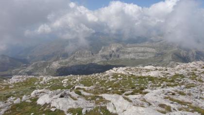 Blick vom Gipfel nach Westen, Frankreich