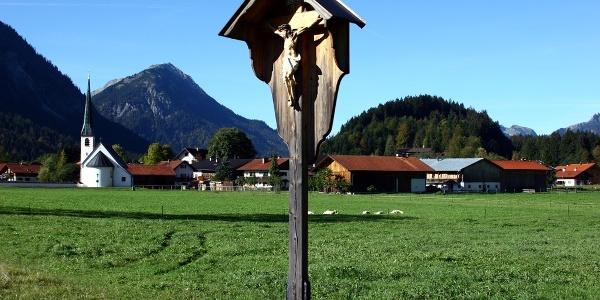 Wanderung durchs Graswangtal zum Königsschloss - Blick auf Graswang