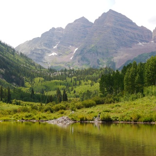 Maroon Lake and Maroon Bells
