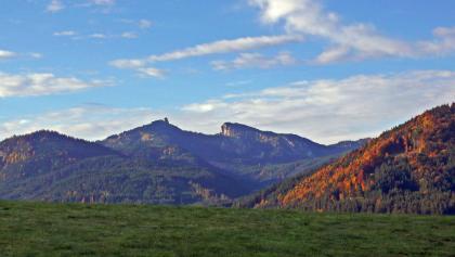 Radtour Kammerlrunde - Blick auf Teufestättkopf und Laubeneck