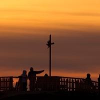 Wanderung Zeitberg - Zeitberggipfel im Sonnenuntergang