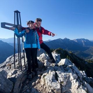 Bergtour Teufelstättkopf - Gipfelkreuz