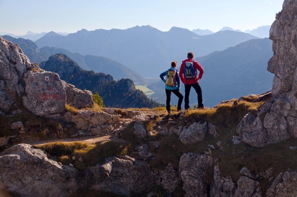Bergtour Teufelstättkopf - Blick auf Estergebirge