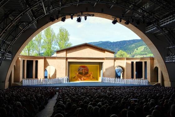 Fernwanderweg Meditationsweg Ammergauer Alpen - Bühne des Passionstheaters