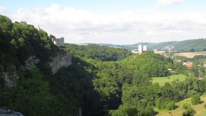 Rudelsburg und Burg Saaleck (Aug. 2013)