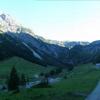 fast geschafft, Rückblick im Gemsteltal auf Geißhorn und Elferkopf