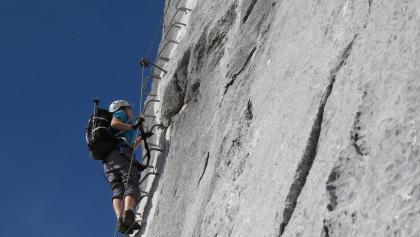 Am Klettersteig Sulzfluh.