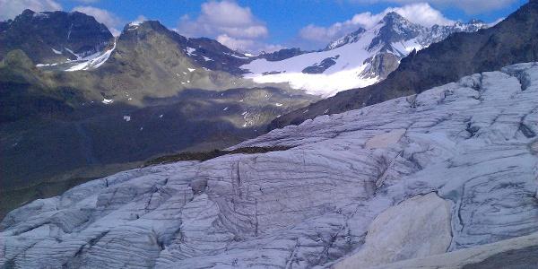Ochsentaler Gletscher mit Dreiländerspitze