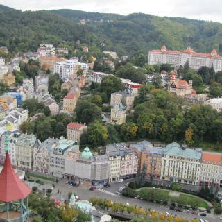 Aussicht auf Karlsbad