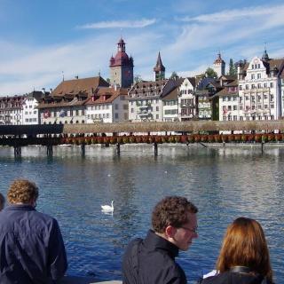 Kappellbrücke mit Altstadt