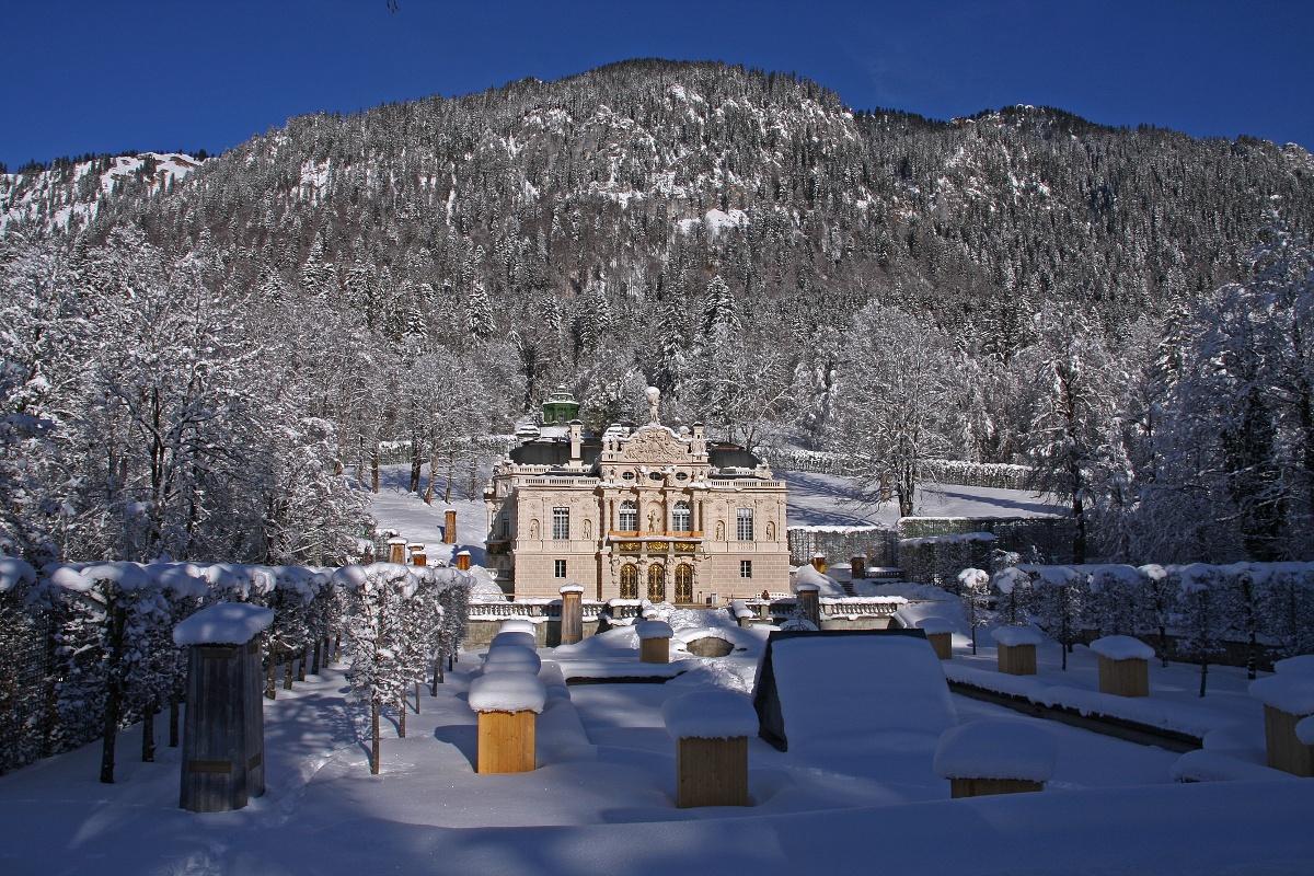 Verbindungsloipe Linderhof Graswang Ammergauer Alpen