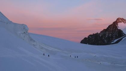 Morgenstimmung am Piz Palue Skitour