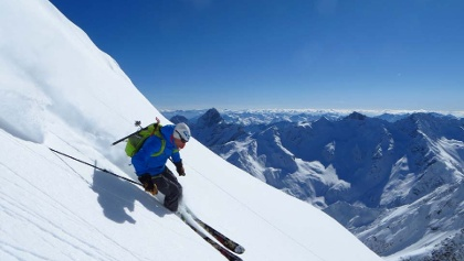 Freeriden in den Alpen