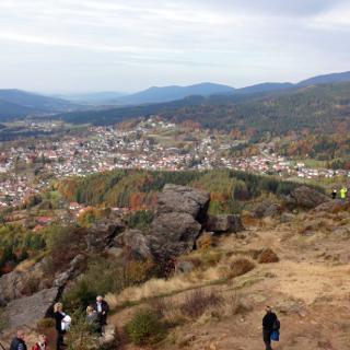 Blick vom Silberberg über Bodenmais