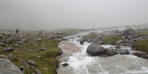 Nebliger Anstieg im Maurertal
