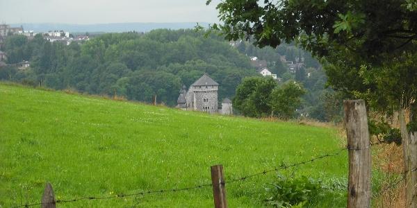 Landschaft um Stolberg mit Blick auf Burg