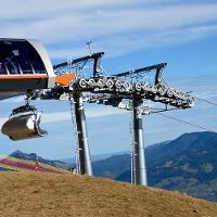 Probefahrt bestanden: die neue 6er-Sesselbahn auf den Weiherkopf im Skigebiet der Hörnerbahn in Bolsterlang: